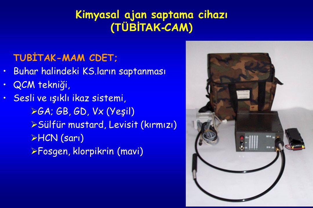 76 Kimyasal ajan saptama cihazı (CAM - Chemical Agent Monitor)