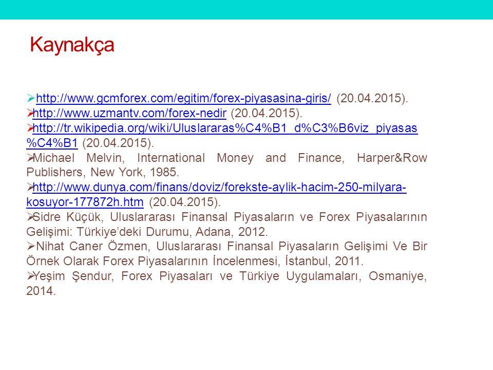  http://www.gcmforex.com/egitim/forex-piyasasina-giris/ (20.04.2015).http://www.gcmforex.com/egitim/forex-piyasasina-giris/  http://www.uzmantv.com/forex-nedir (20.04.2015).