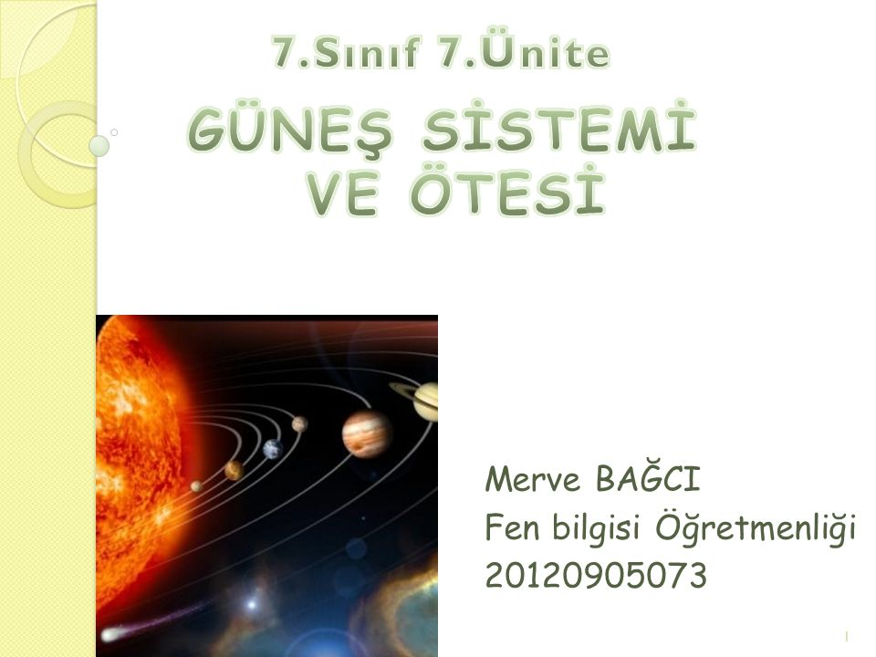 Merve BAĞCI Fen bilgisi Öğretmenliği 20120905073 1