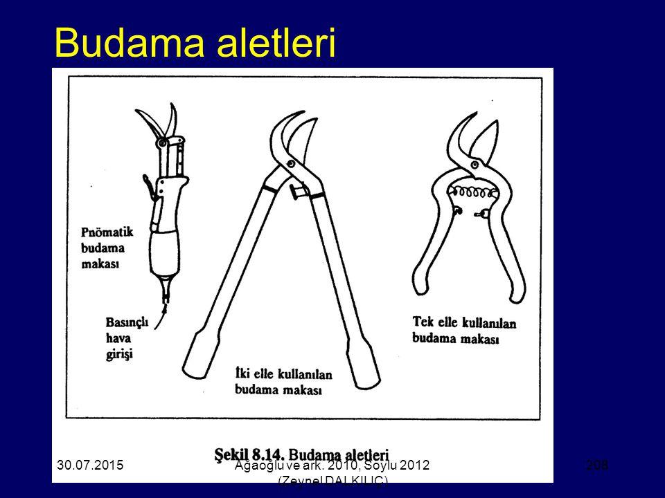 Budama aletleri 30.07.2015Ağaoğlu ve ark. 2010, Soylu 2012 (Zeynel DALKILIÇ) 208