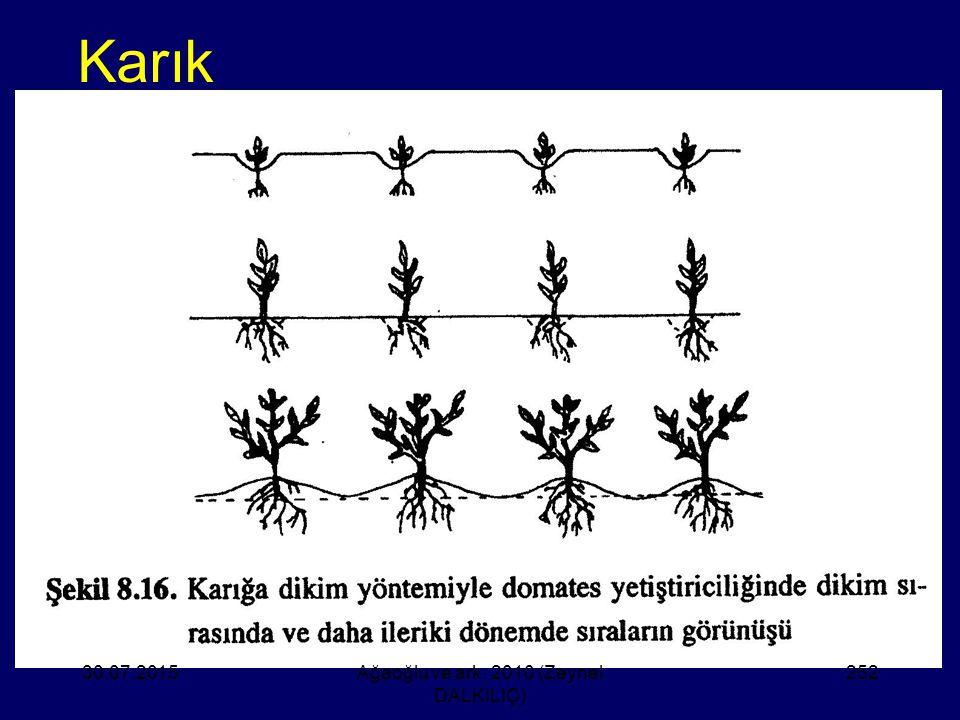 Karık 30.07.2015Ağaoğlu ve ark. 2010 (Zeynel DALKILIÇ) 252