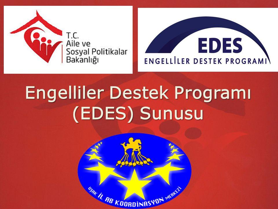 ENGELLİLER DESTEK PROGRAMI (EDES) Engelliler Destek Programı (EDES), 2011 yılında Orta ve Doğu Karadeniz Bölgesindeki Amasya, Artvin, Bayburt, Çorum, Giresun, Gümüşhane, Ordu, Rize, Samsun, Tokat ve Trabzon illerinde uygulanmaya başlanmış, 2013 yılında Bartın, Bolu, Düzce, Karabük, Kastamonu, Sinop ve Zonguldak illeri de eklenerek Karadeniz Bölgesinin tamamında uygulanmıştır.