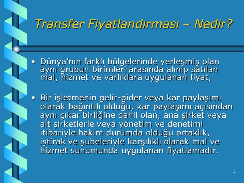 3 Transfer Fiyatlandırması – Nedir.