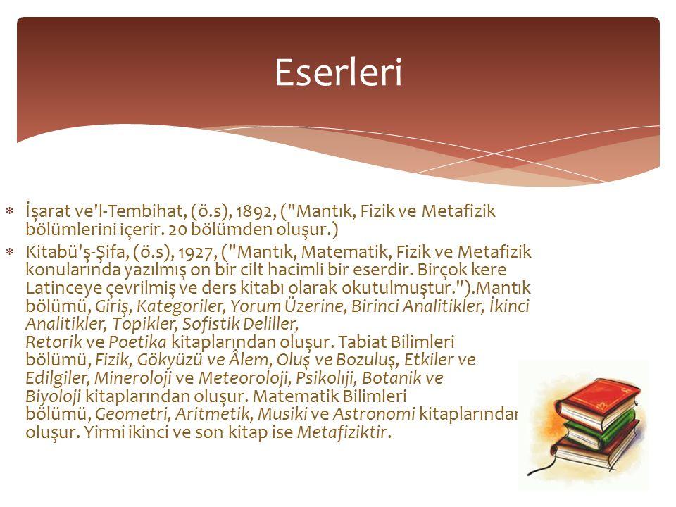  El-Kanun fi t-Tıp, (ö.s), 1593, Tıpta Kanun (Tıp ile ilgili zamanının bilgilerini ihtiva eder.