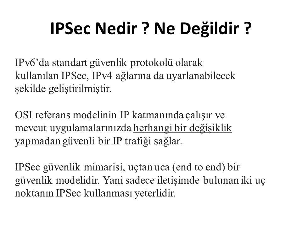 IPSec Nedir .Ne Değildir .