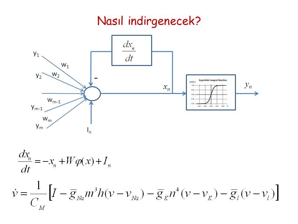 Nasıl indirgenecek InIn y1y1 y2y2 ymym y m-1 w1w1 w2w2 w m-1 wmwm - xnxn ynyn