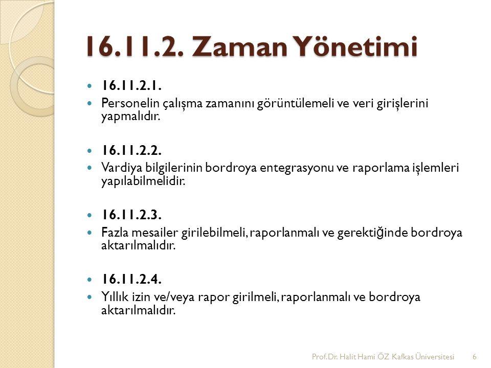 16.11.2.Zaman Yönetimi 16.11.2.1.
