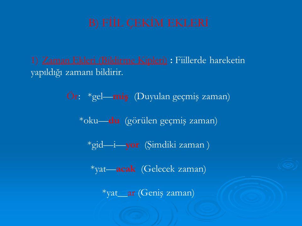 6) L fiilden fiil yapım ekiyle L isimden fiil yapım eki birbirine karıştırılmamalıdır.