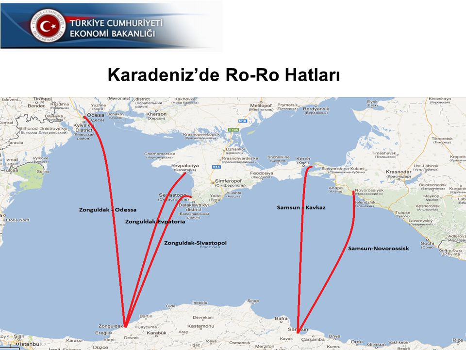 26 Karadeniz'de Ro-Ro Hatları