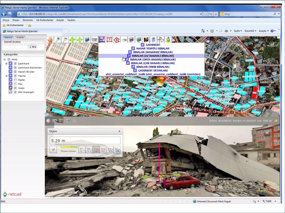 Firma bünyesinde; masaüstü platformlarda çalışan veri üretimi ve güncellenmesine yönelik yazılımlar ile üretilen bu akıllı haritaların web üzerinde yayınlanmasına yönelik yazılımlar geliştirilmektedir.