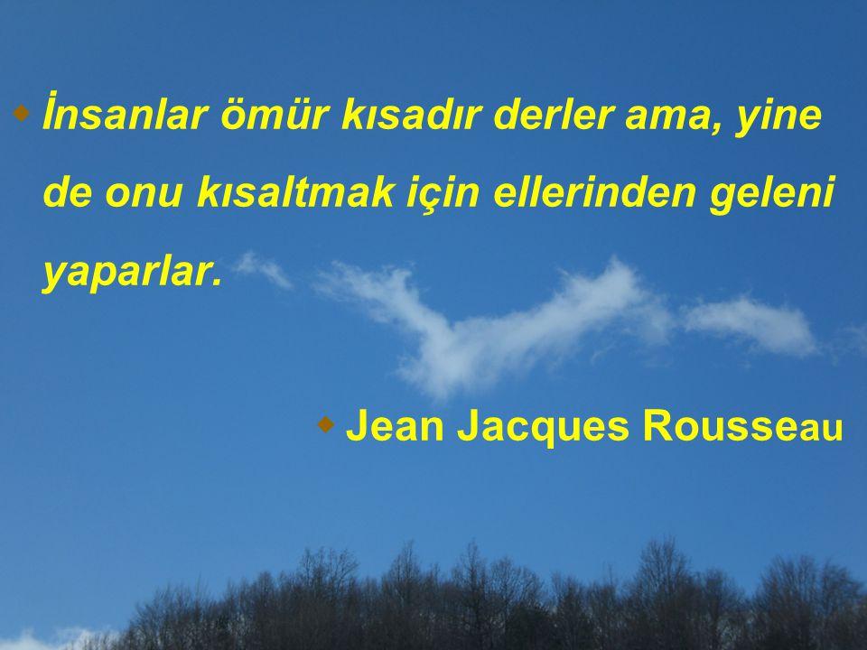 İnsanlar ömür kısadır derler ama, yine de onu kısaltmak için ellerinden geleni yaparlar.  Jean Jacques Rousse au