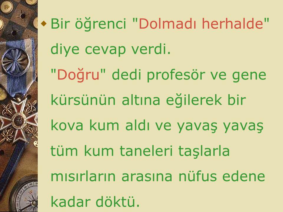  Bir öğrenci