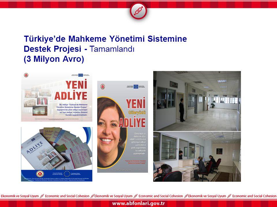 Türkiye'de Mahkeme Yönetimi Sistemine Destek Projesi - Tamamlandı (3 Milyon Avro)
