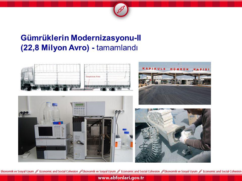 Gümrüklerin Modernizasyonu-II (22,8 Milyon Avro) - tamamlandı