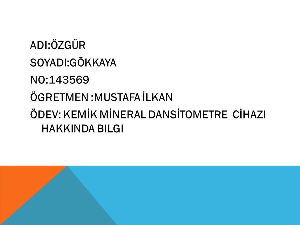 Kemik Mineral Dansitometre Cihazı Aparatları