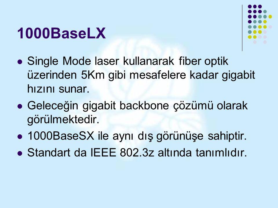 1000BaseLX Single Mode laser kullanarak fiber optik üzerinden 5Km gibi mesafelere kadar gigabit hızını sunar. Geleceğin gigabit backbone çözümü olarak