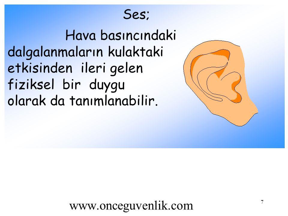 7 Ses; Hava basıncındaki dalgalanmaların kulaktaki etkisinden ileri gelen fiziksel bir duygu olarak da tanımlanabilir. www.onceguvenlik.com