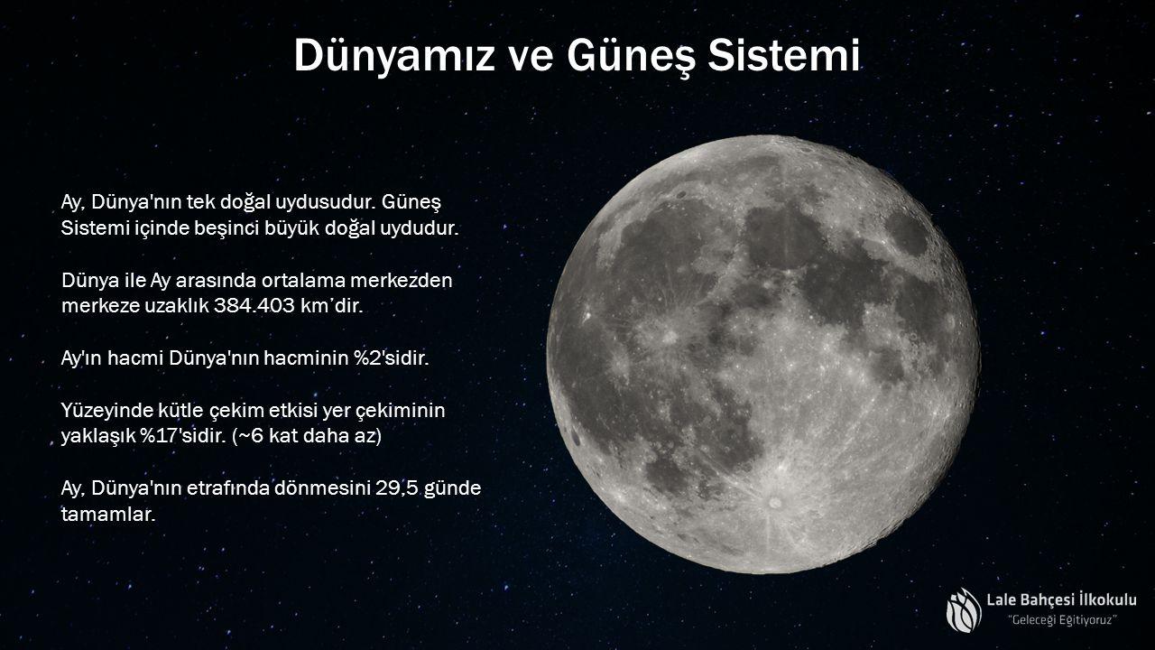 Ay, Dünya'nın tek doğal uydusudur. Güneş Sistemi içinde beşinci büyük doğal uydudur. Dünya ile Ay arasında ortalama merkezden merkeze uzaklık 384.403