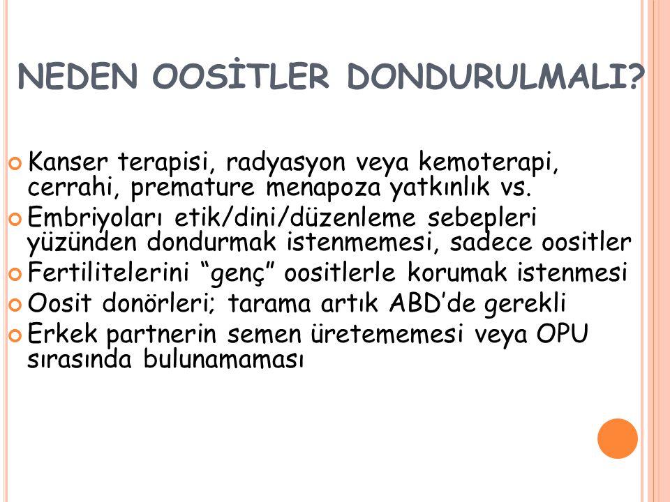 NEDEN OOSİTLER DONDURULMALI.