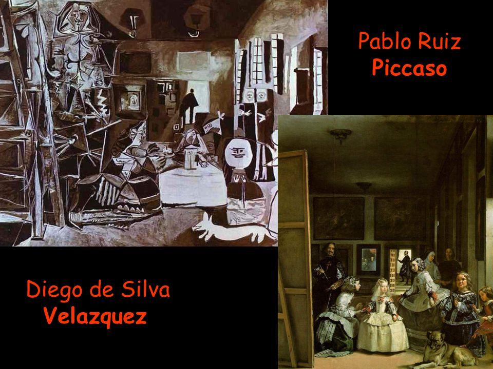Pablo Ruiz Piccaso Diego de Silva Velazquez