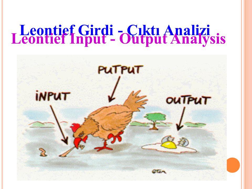 Leontief Girdi - Çıktı Analizi Leontief Input - Output Analysis