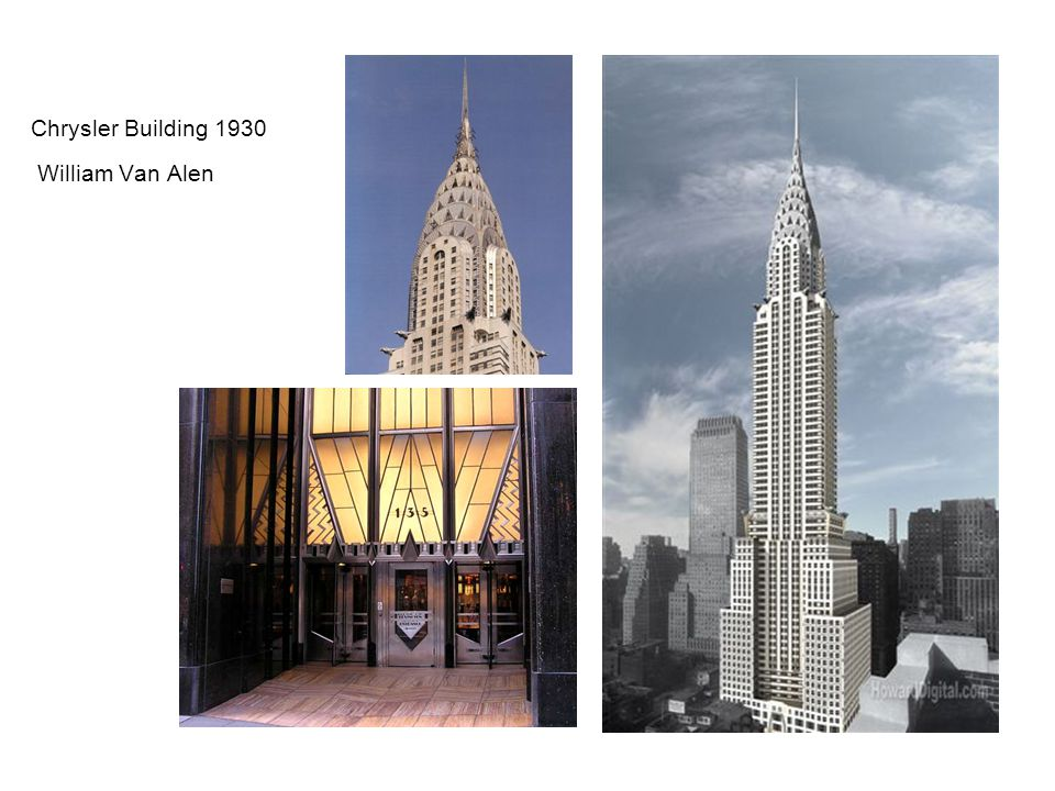 Chrysler Building 1930 William Van Alen