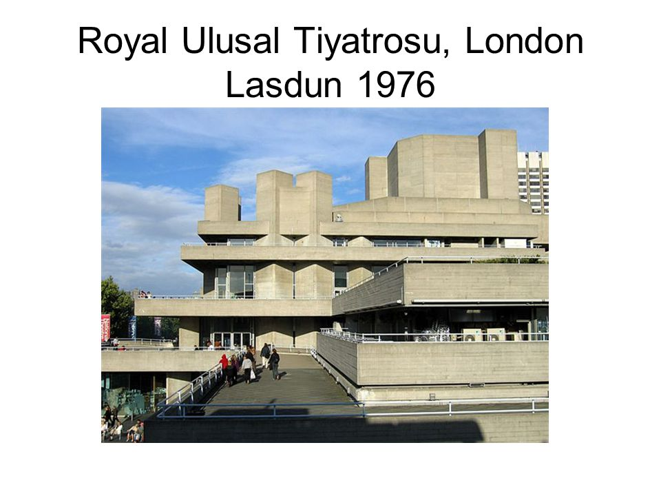 Royal Ulusal Tiyatrosu, London Lasdun 1976