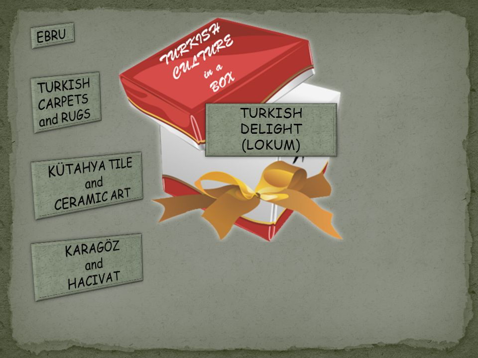 TURKISH DELIGHT(LOKUM) Turkish delight is one of the most famous desserts in the world.