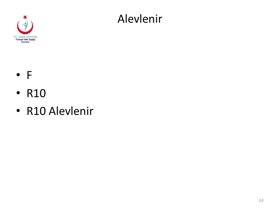 Alevlenir F R10 R10 Alevlenir 24