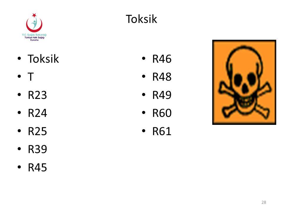 Toksik T R23 R24 R25 R39 R45 R46 R48 R49 R60 R61 28