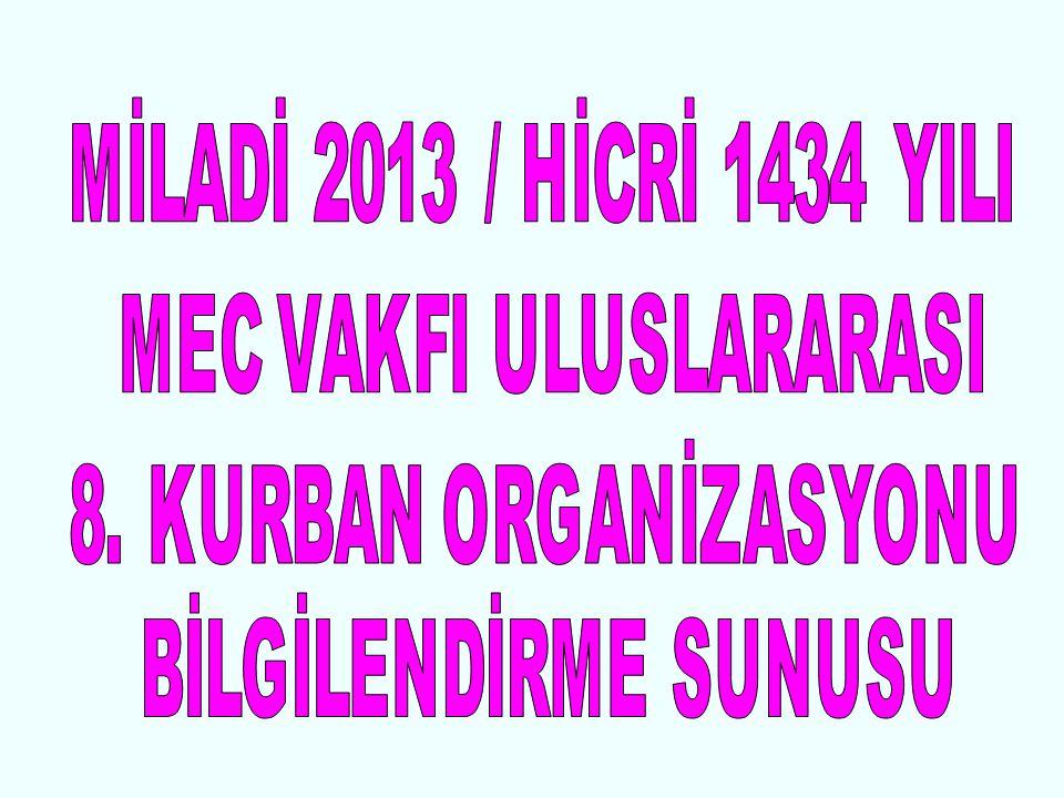 HİCRİ 1434 – MİLADİ 2013