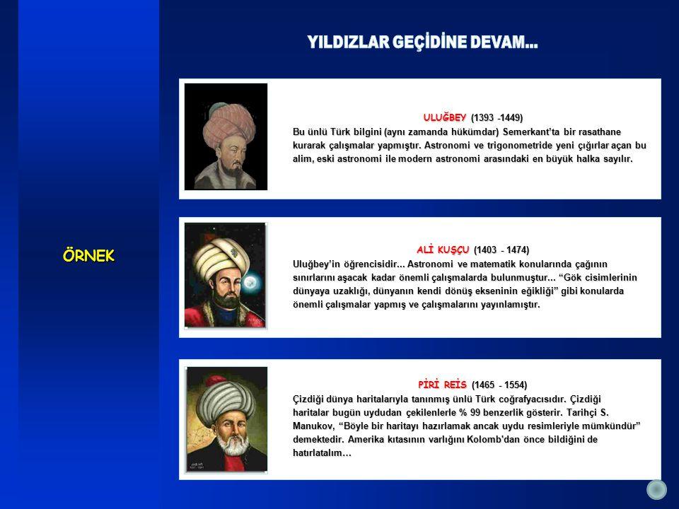 PİRİ REİS (1465 - 1554) Çizdiği dünya haritalarıyla tanınmış ünlü Türk coğrafyacısıdır.