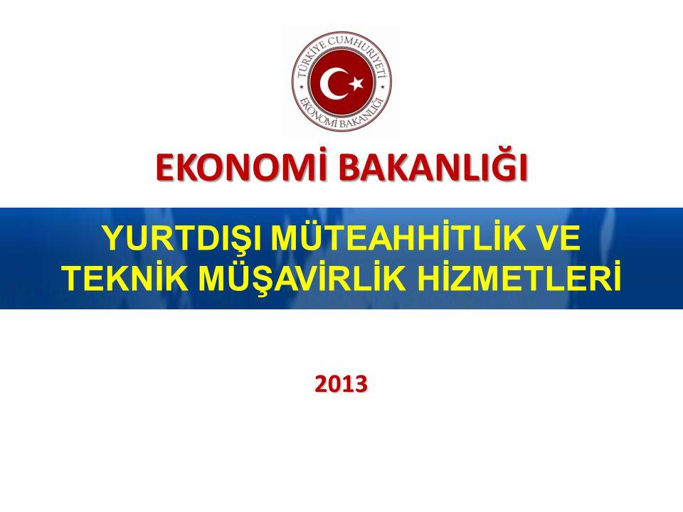 İçerik 2013 Ekonomi Bakanlığı 2 1. SEKTÖREL DEĞERLENDİRME 2. MÜŞAVİRLERİMİZDEN BEKLENTİLERİMİZ