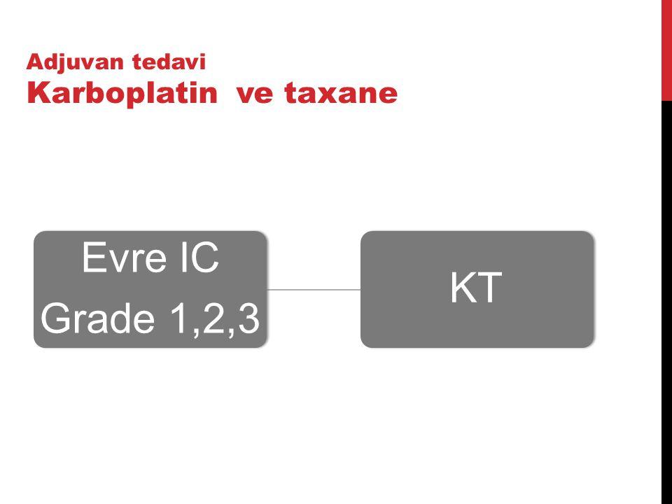 Evre IC Grade 1,2,3 KT Adjuvan tedavi Karboplatin ve taxane