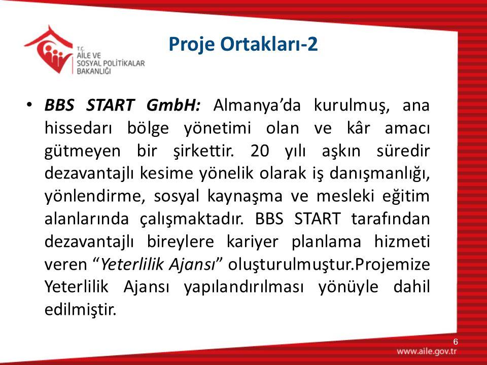 Proje Ortakları-2 BBS START GmbH: Almanya'da kurulmuş, ana hissedarı bölge yönetimi olan ve kâr amacı gütmeyen bir şirkettir. 20 yılı aşkın süredir de