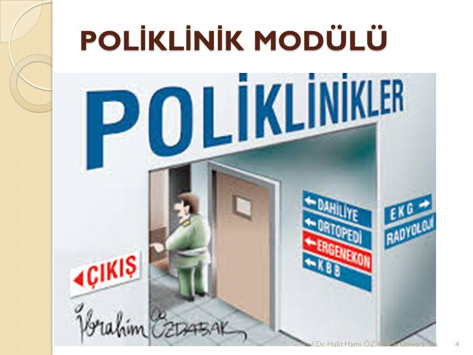 POL İ KL İ N İ K MODÜLÜ Prof.Dr. Halit Hami ÖZ Kafkas Üniversitesi4