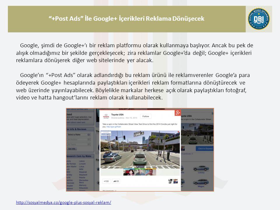 http://sosyalmedya.co/google-plus-sosyal-reklam/ +Post Ads İle Google+ İçerikleri Reklama Dönüşecek Google, şimdi de Google+'ı bir reklam platformu olarak kullanmaya başlıyor.