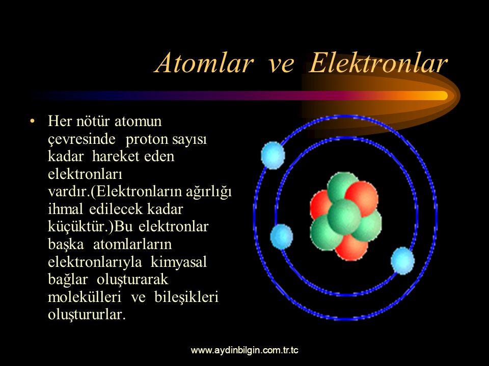www.aydinbilgin.com.tr.tc Bor'un Elektron Dağılımı İlk yörüngede iki, ikinci yörüngede ise geri kalan elektronları (üç elektron) olacaktır. Son yörüng