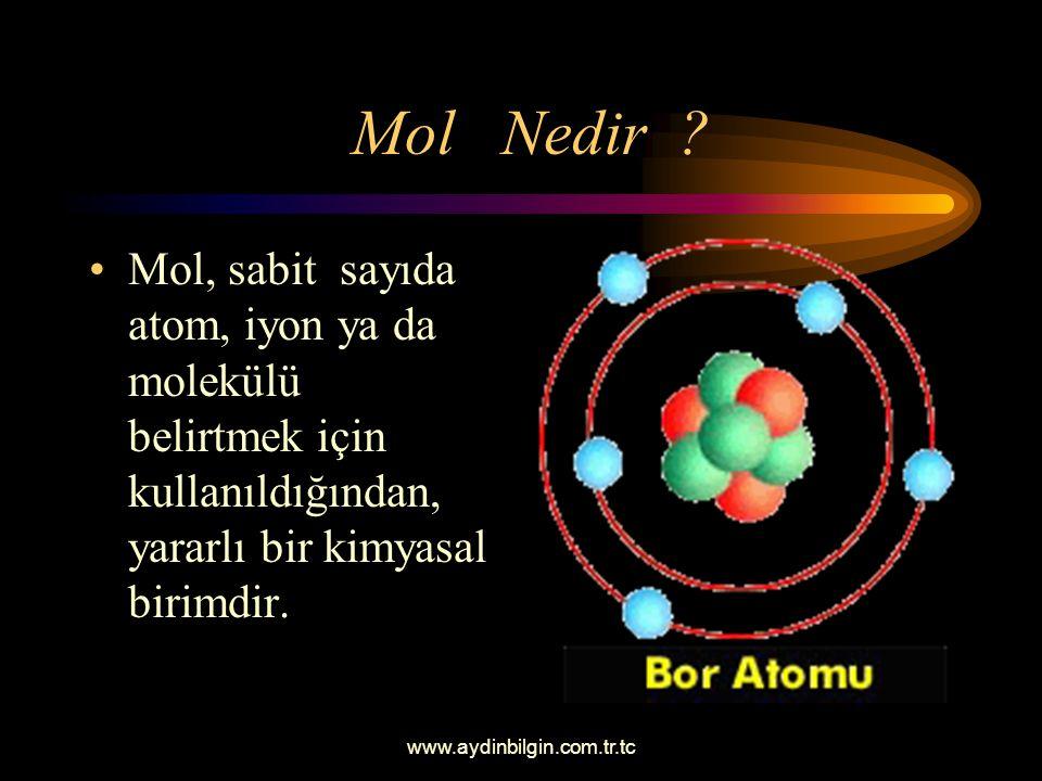 www.aydinbilgin.com.tr.tc İzotop Atom Atom numaraları aynı (yani proton sayıları değişmeyen) fakat nötron sayıları değişen atomlara denir. Sonuçta küt