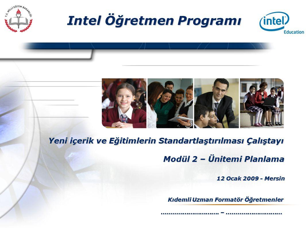 Presented By Harry Mills / PRESENTATIONPRO Intel Öğretmen Programı Yeni içerik ve Eğitimlerin Standartlaştırılması Çalıştayı 12 Ocak 2009 - Mersin Kıdemli Uzman Formatör Öğretmenler..............................