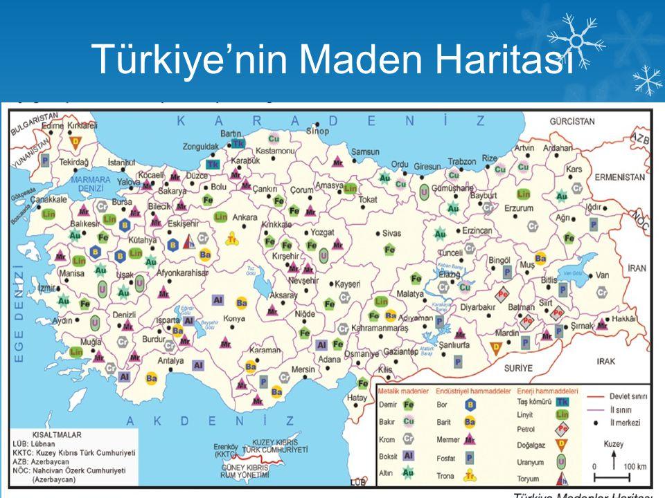 Türkiye'nin Maden Haritası