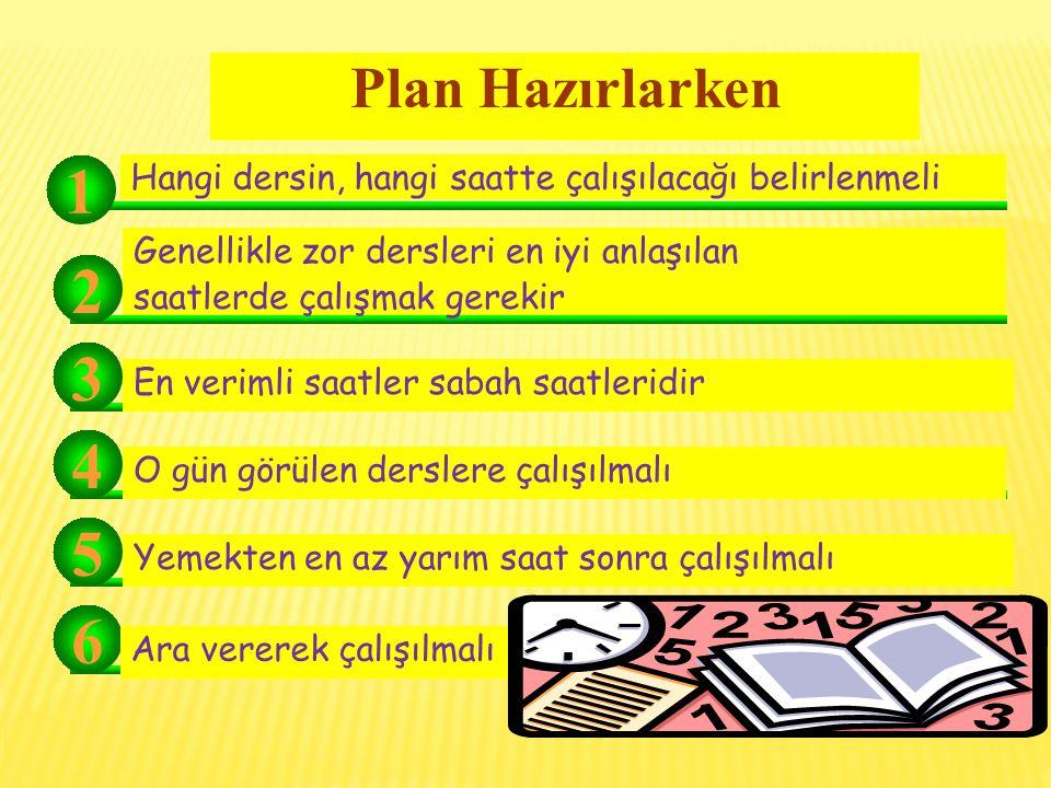 Zamanı Planlama ve Planlı Çalışma Planlı çalışmak ne demektir.