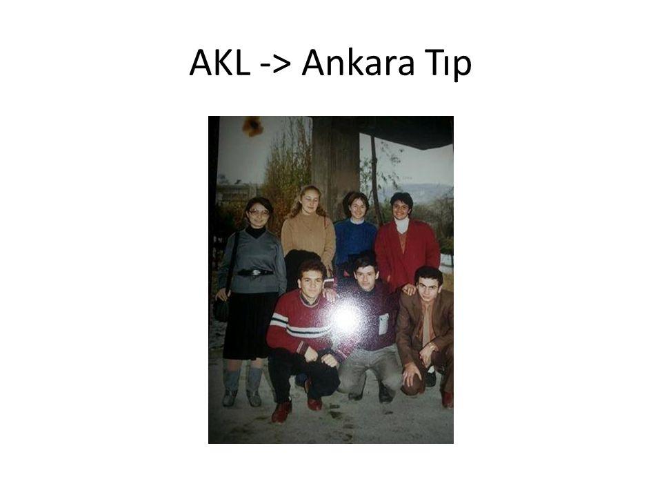 AKL -> Ankara Tıp