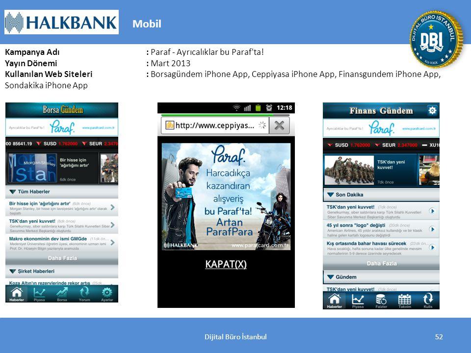 Dijital Büro İstanbul52 Kampanya Adı : Paraf - Ayrıcalıklar bu Paraf ta.