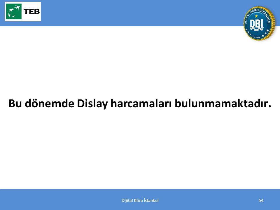 Dijital Büro İstanbul54 Bu dönemde Dislay harcamaları bulunmamaktadır.