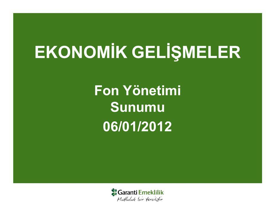 EKONOMİK GELİŞMELER Fon Yönetimi Sunumu 06/01/2012