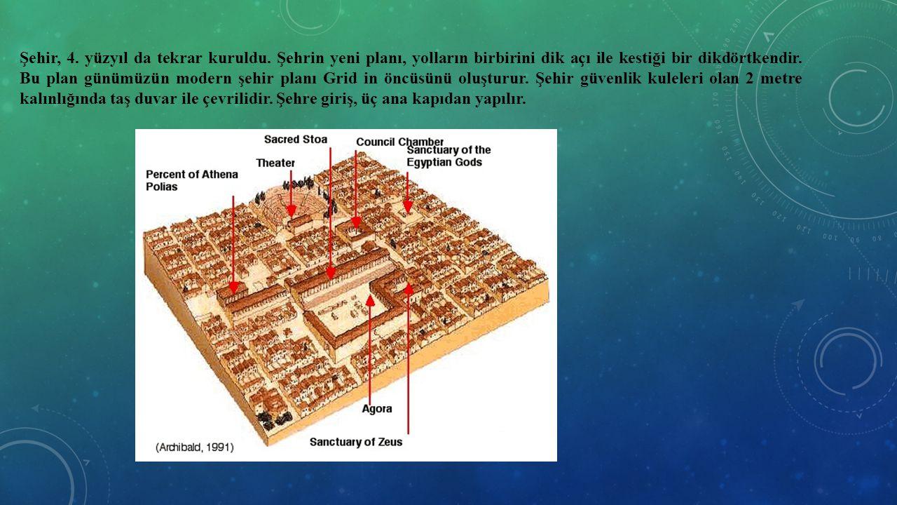 Şehir, 4. yüzyıl da tekrar kuruldu. Şehrin yeni planı, yolların birbirini dik açı ile kestiği bir dikdörtkendir. Bu plan günümüzün modern şehir planı