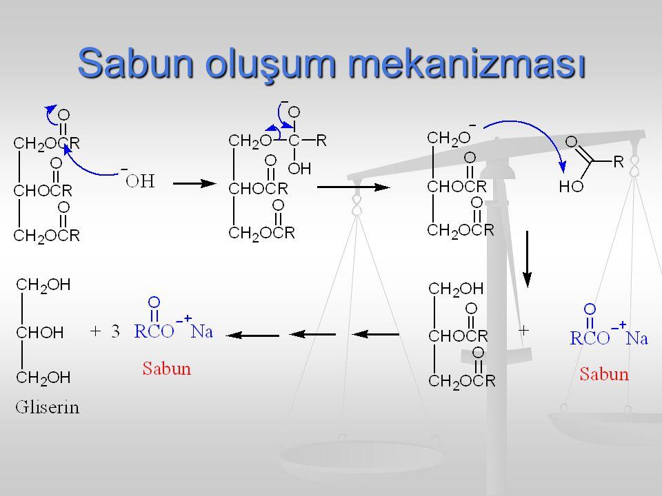 Sabun oluşum mekanizması
