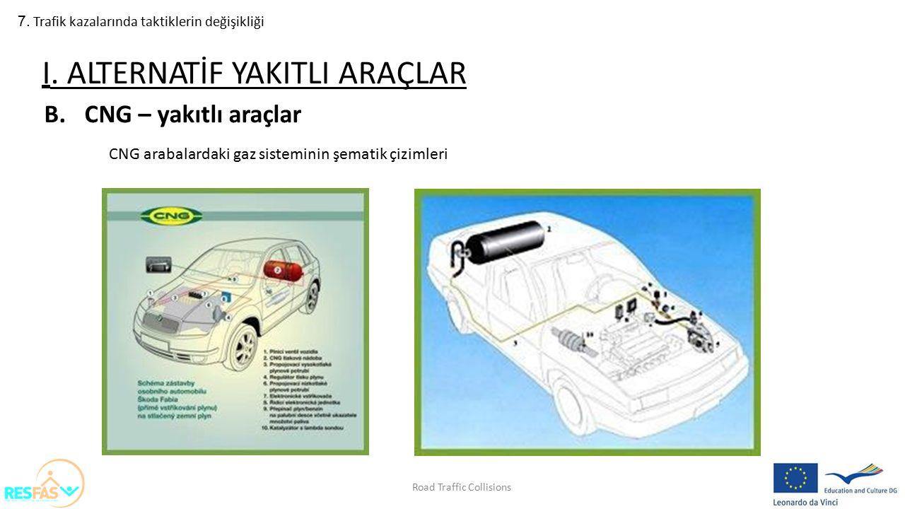 7. Trafik kazalarında taktiklerin değişikliği B.CNG – yakıtlı araçlar CNG arabalardaki gaz sisteminin şematik çizimleri I. ALTERNATİF YAKITLI ARAÇLAR