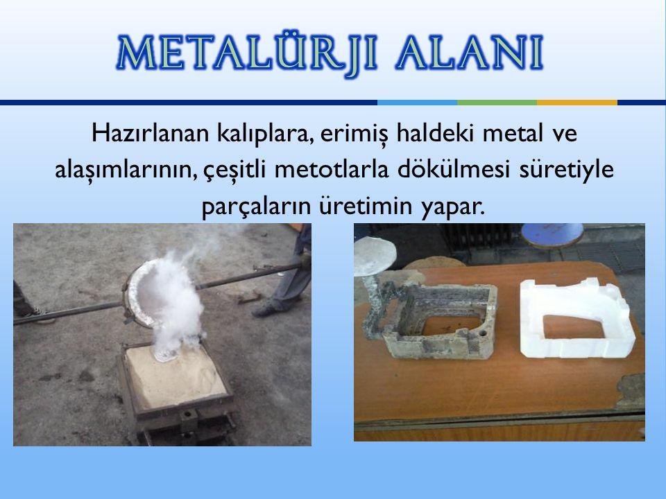 Hazırlanan kalıplara, erimiş haldeki metal ve alaşımlarının, çeşitli metotlarla dökülmesi süretiyle parçaların üretimin yapar.